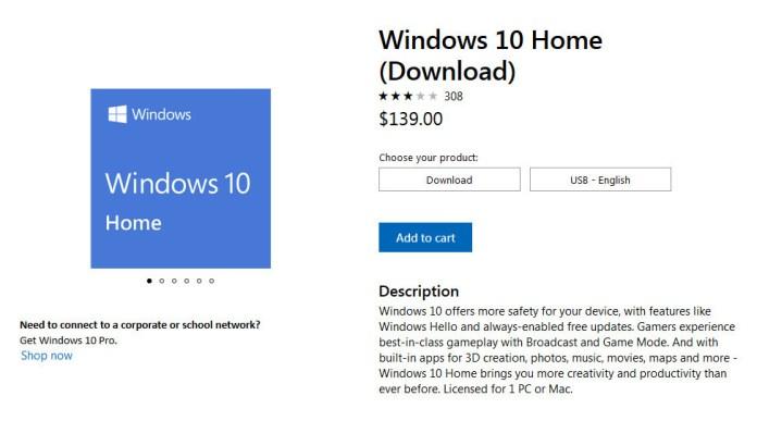Microsoft    Windows 10 Home  40%