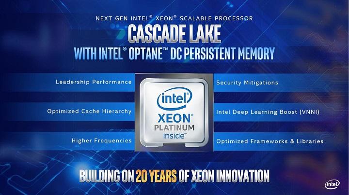 Intel публикува информация относно подготвяните за пазара сървърни процесори Cascade