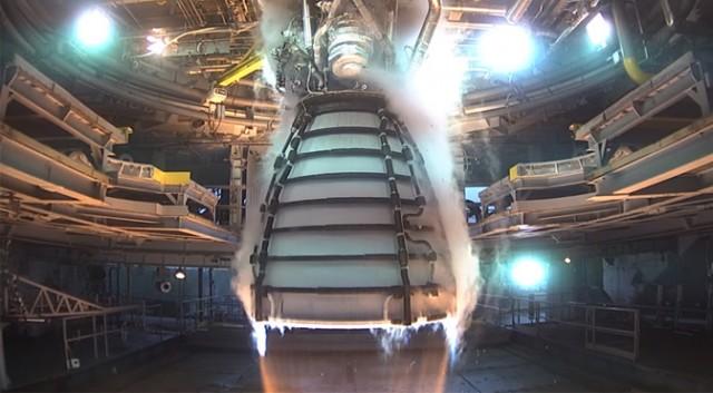 По време на тестовете, ракетният двигател RS-25 аварира. Той е
