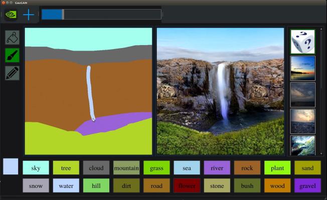 Изкуственият интелект на Nvidia превръща скиците в нереални снимки
