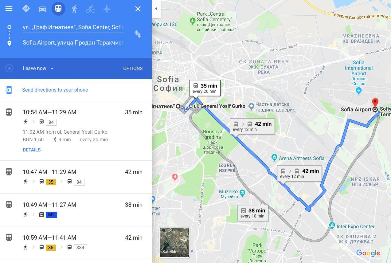 Marshrutite Na Transporta V Sofiya Veche Sa V Google Maps Kaldata Com