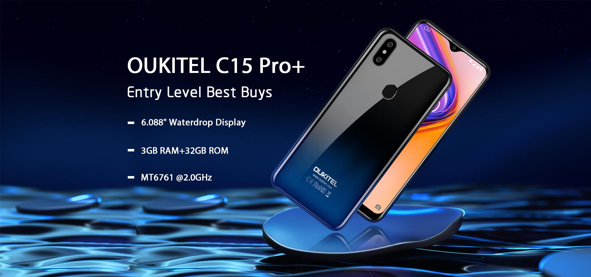 Снимка: OUKITEL C15 Pro+: смартфон с 3 GB RAM, 32 GB ROM и цена едва $75