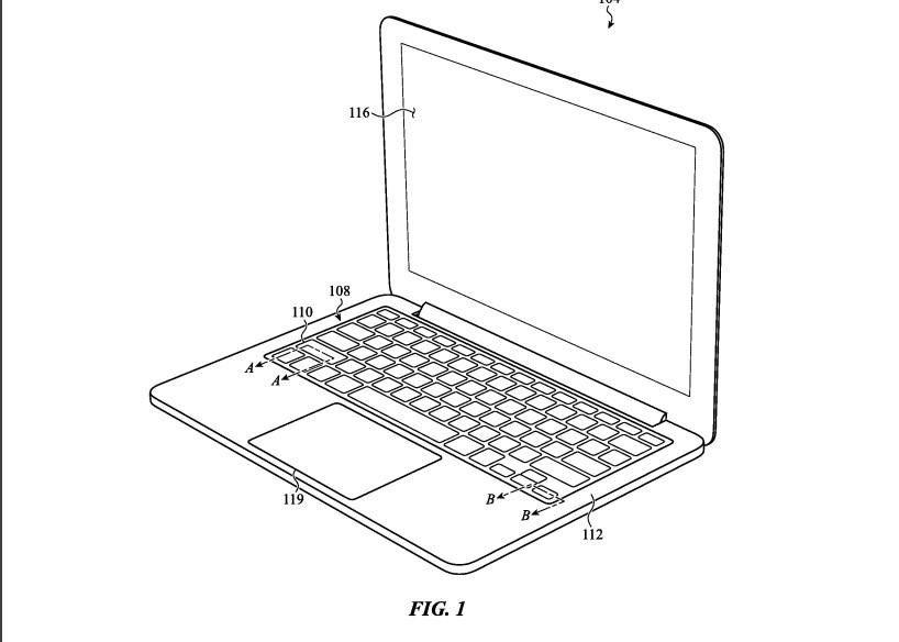 Снимка: Нов патент на Apple загатва за нова клавиатура за MacBook