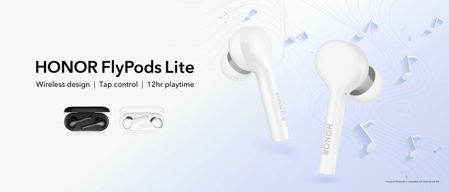Безжичните слушалки HONOR FlyPods Lite са вече в България