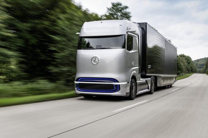 Официален анонс на влекача Mercedes Benz GenH2 с водородно гориво