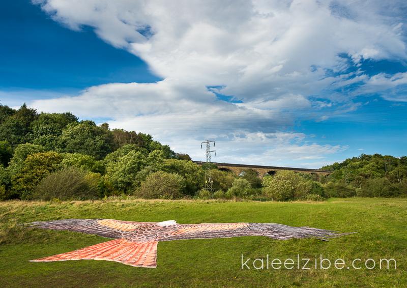_ND47235 Red kite mosaic-Nine Arches Viaduct-KaleelZibe.com