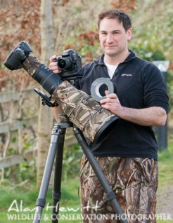 A more substantial Gitzo GT5541LS tripod for heavy work. Taken by my friend, Alan Hewitt for N-Photo magazine