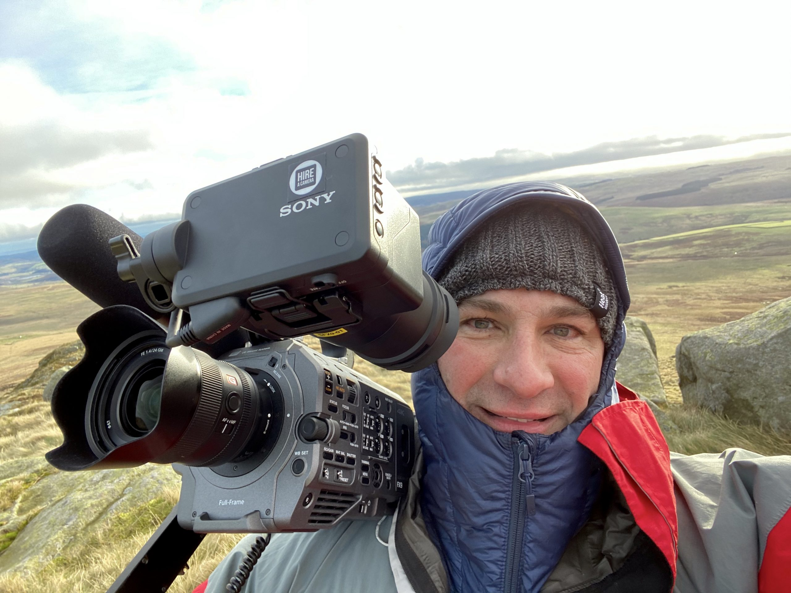 In the Cheviot Hills with my current camera: Sony's excellent FX9 cinema camera.