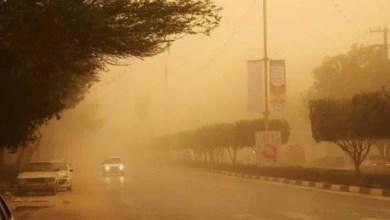 تصویر ۷۳ روستا در استان کرمان در محاصره توفان شن قرار گرفتند
