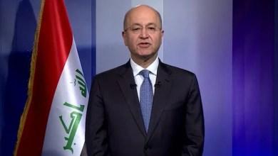 تصویر رئیس جمهور عراق: نخست وزیر جدید برای برگزاری انتخابات و تحقق مطالبات مردمی تلاش کند