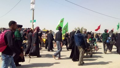 تصویر درگیری زائرین امام حسین با ماموران مرزی ایران و عراق