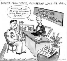 Musharraf moves on (HT: Salil Tripathi)