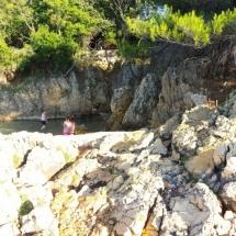 Panorama d'une crique en Croatie