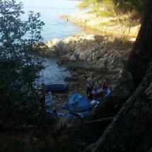 Belle vue sur crique en Croatie