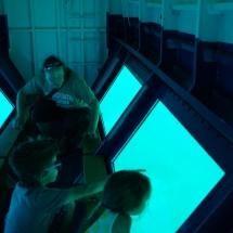 Vue en dessous du bateau