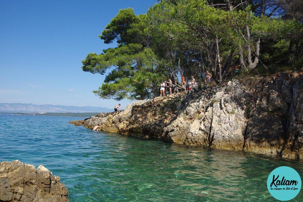 Belle crique en Croatie