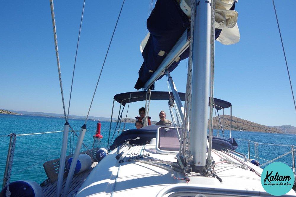 Notre famille sur un voilier en Croatie