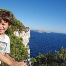 Vu sur les falaises en croatie