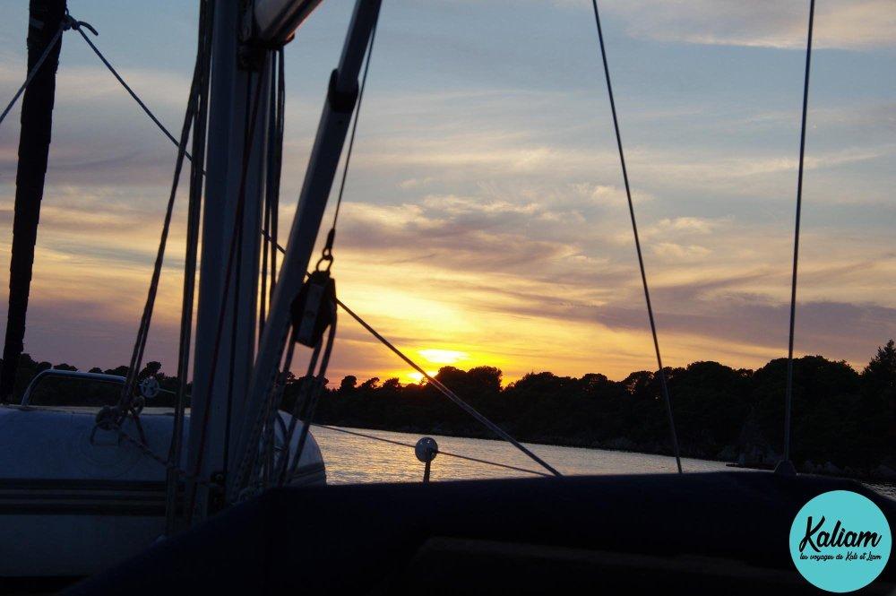 Coucher de soleil pas loin de Sibenik