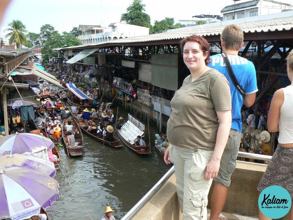 Magnifique marché flottant