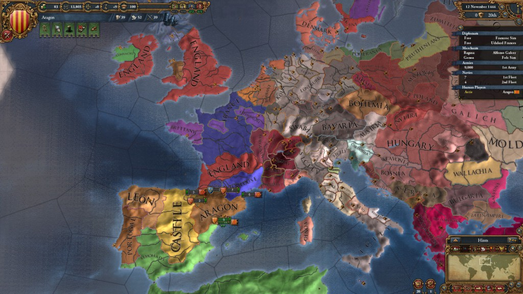 Vue Politique de l'Europe