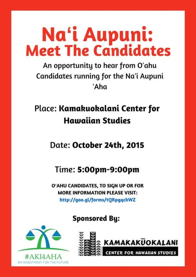 Oct. 24 Candidate Forum Flier