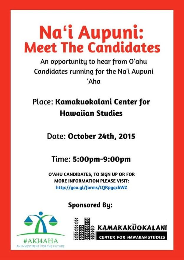 Oct. 24 Candidate Forum Flier