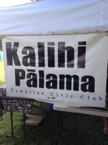 Kalihi Pālama Hawaiian Civic Club banner