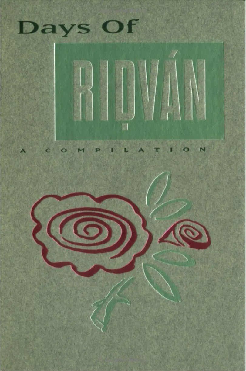 Days of Ridvan book cover