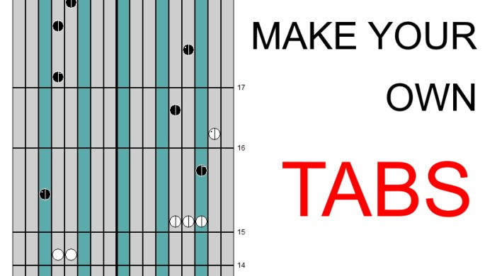 How to create your own kalimba cover/tabs