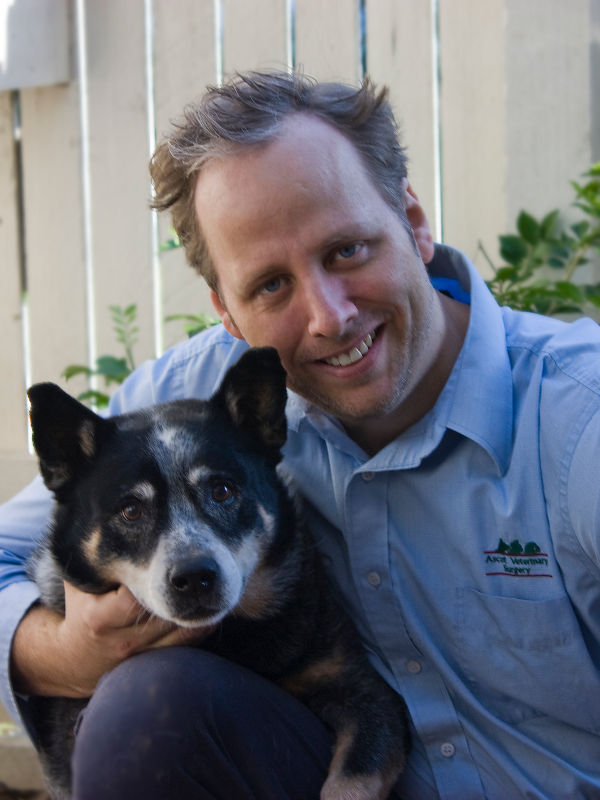 Dr Ben with Bodie the Cattle Dog