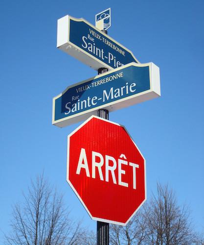 noms de rues signalisation