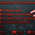 Solve Raspberry Pi wireless problems