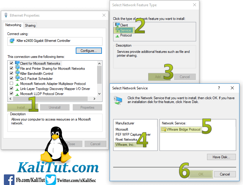 cannot change network to bridged vmware workstation