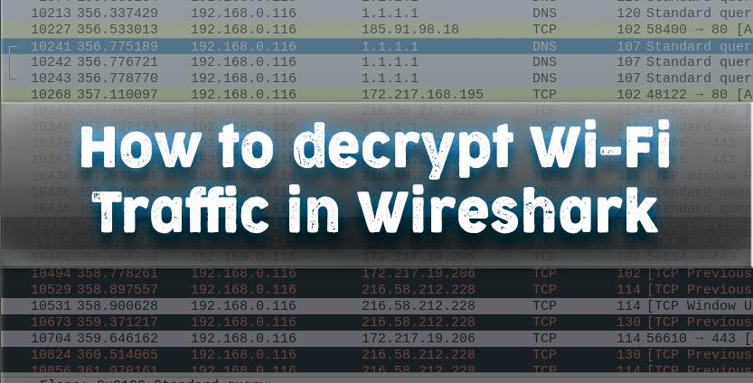 How to decrypt wifi traffic