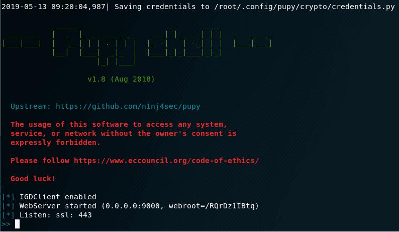 Installing Pupy rat on Kali Linux