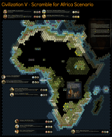 Civilization 5 Scramble for Africa Map