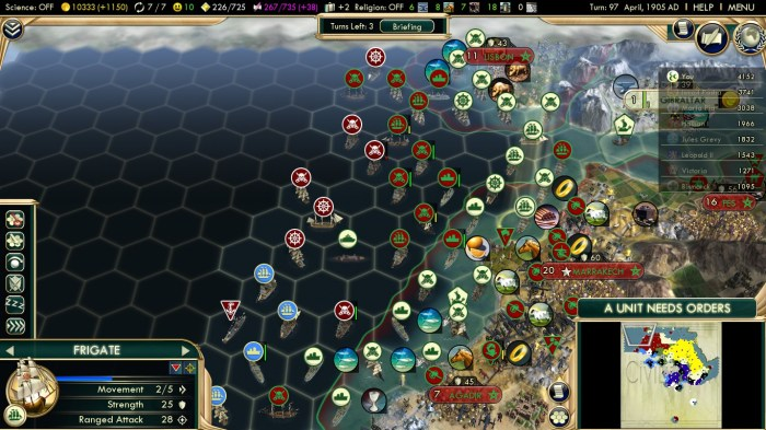 Civilization 5 Scramble for Africa Ottoman Deity Atlantic Fleet