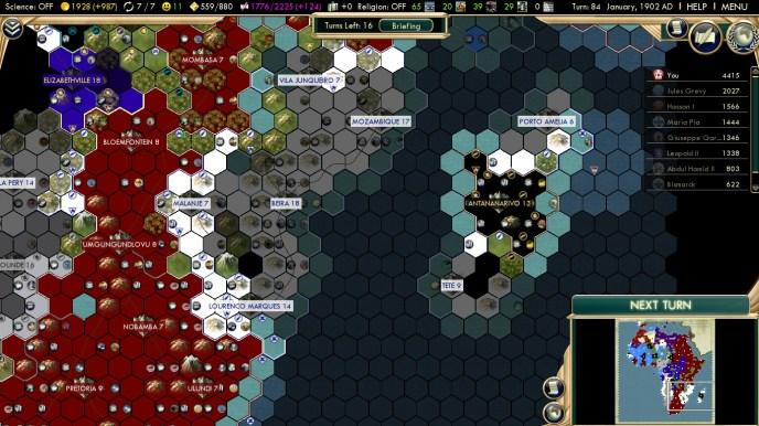Civilization 5 Scramble for Africa Rhodes Colossus Steam Achievement Way north