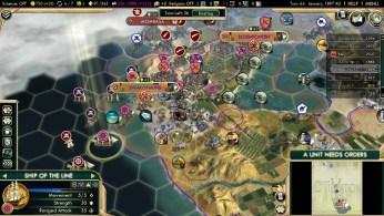 Civilization 5 Scramble for Africa Boers Deity Sea Blockade