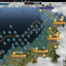 Civilization 5 Into the Renaissance Celts Deity Celtic Fleet conquering the Netherlands