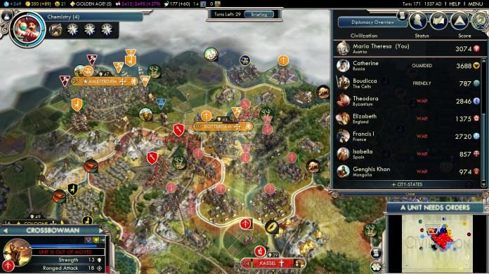 Civilization 5 Into the Renaissance Austria Deity - Siege of Rotterdam