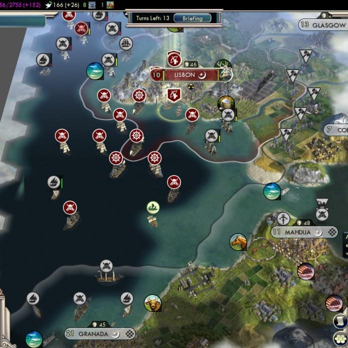 Civilization 5 Into the Renaissance England Deity Attack Almohads