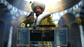 Civilization 5 Into the Renaissance England Deity Bribe Turks vs Austria