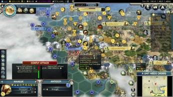 Civilization 5 Into the Renaissance Ayyubids Deity Control Mainland Turkey