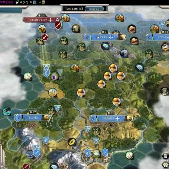 Civilization 5 Into the Renaissance France Deity France completely settled