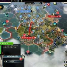 Civilization 5 Into the Renaissance France Deity Bomb Vatican City