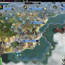 Civilization 5 Into the Renaissance France Deity No Spanish city on Iberia