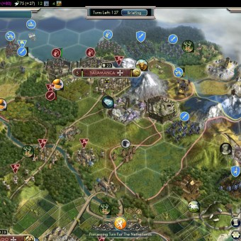 Civilization 5 Into the Renaissance Spain Deity War with England and Ayyubids
