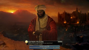 Civilization 5 Into the Renaissance Spain Deity Saladin mockery
